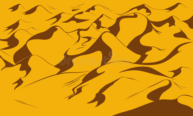 Fondo del vector de las dunas del desierto libre illustration