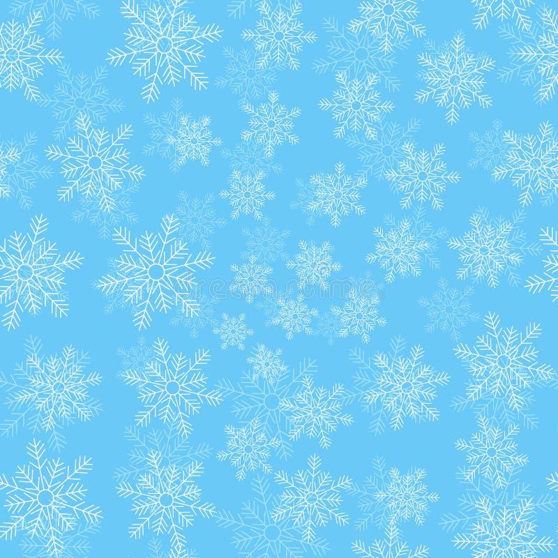 Fondo del vector de las nevadas ilustración del vector