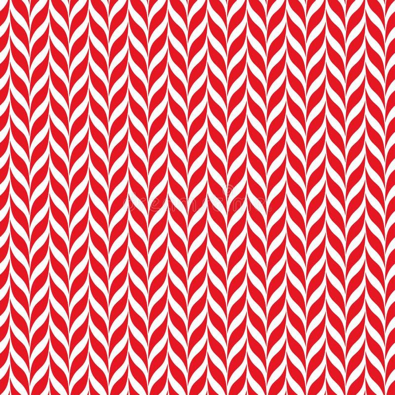 Fondo del vector de los bastones de caramelo Modelo inconsútil de Navidad con las rayas rojas y blancas del bastón de caramelo libre illustration