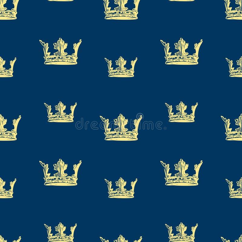 Fondo del vector de los bosquejos de la corona ilustración del vector