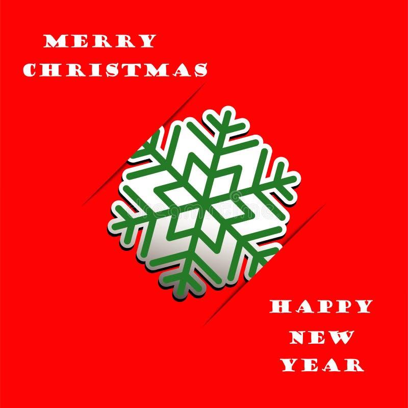 Fondo del vector del applique del copo de nieve de la Navidad ilustración del vector