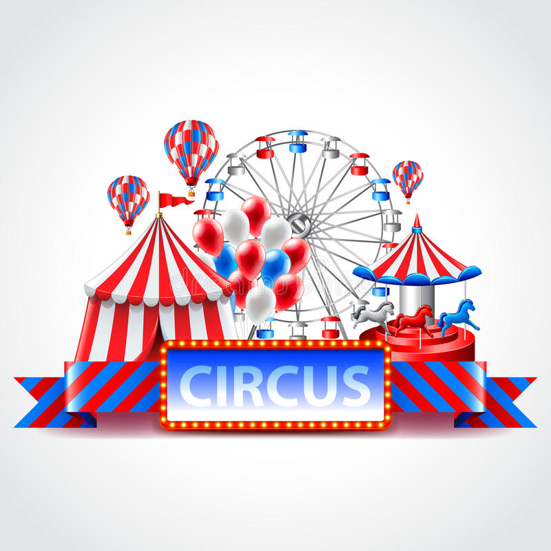 Fondo del vector del carnaval de la feria de diversión del circo libre illustration