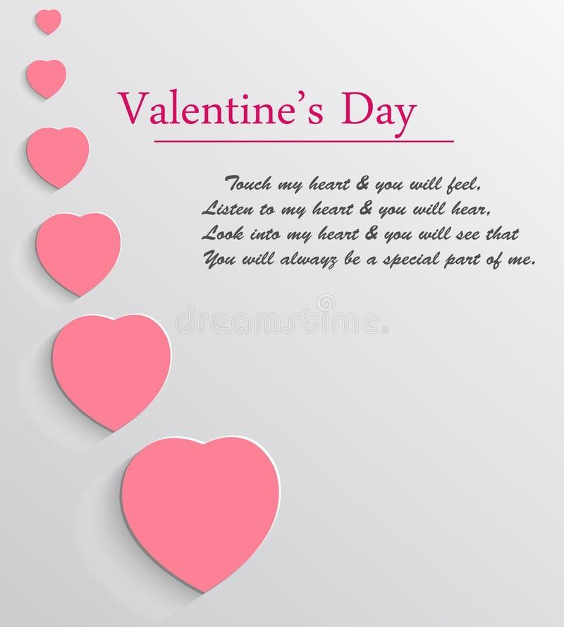 Fondo del vector del día de tarjeta del día de San Valentín imagen de archivo libre de regalías