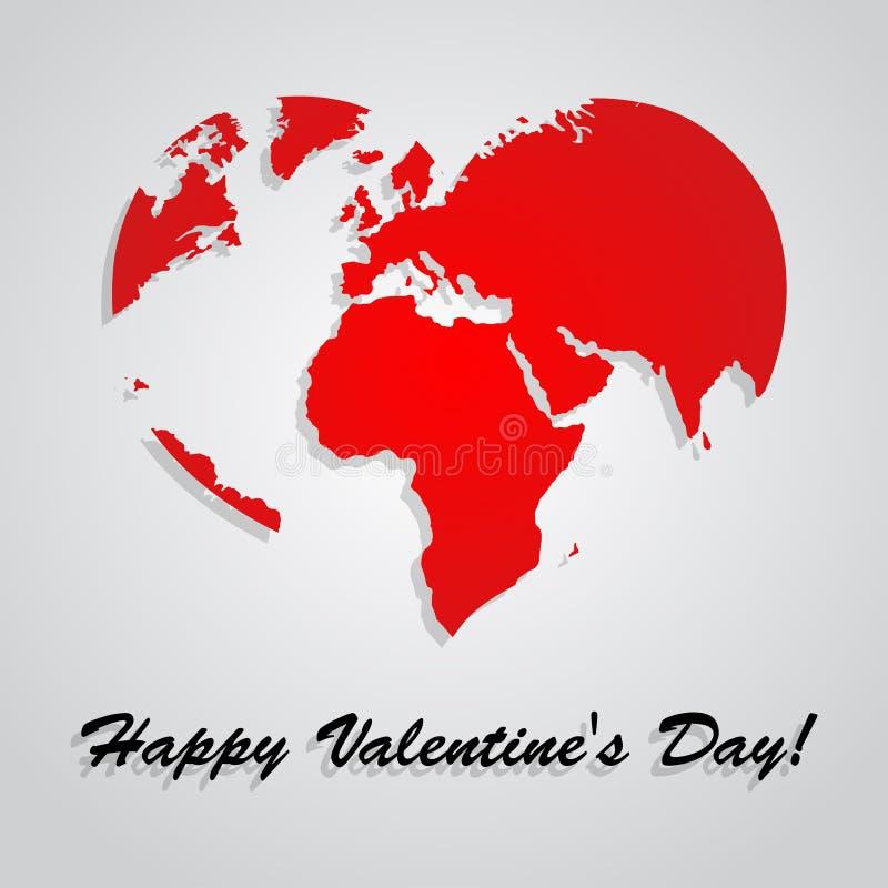 Fondo del vector del día de tarjetas del día de San Valentín stock de ilustración