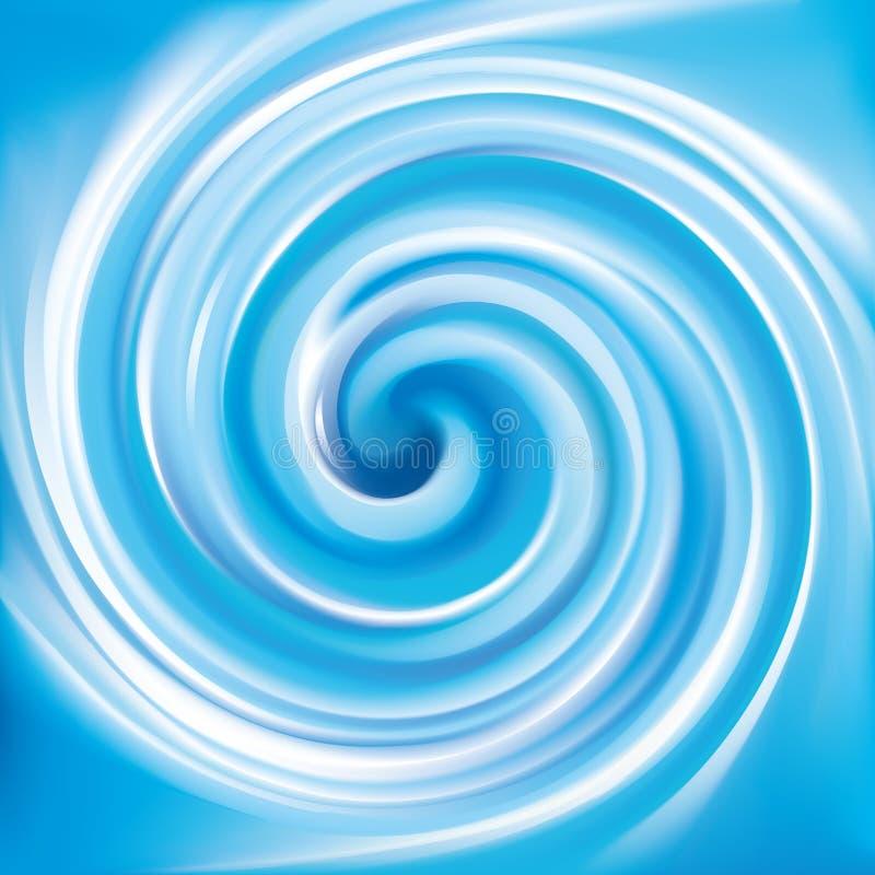 Fondo del vector del embudo azul del agua que remolina libre illustration
