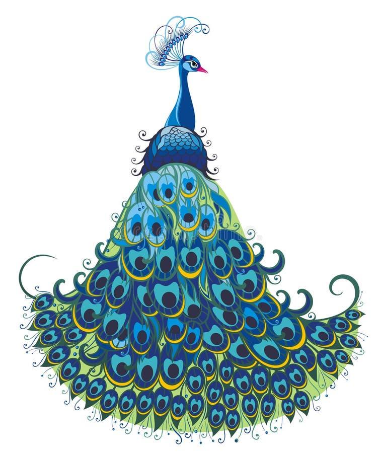 Fondo del vector del pavo real libre illustration