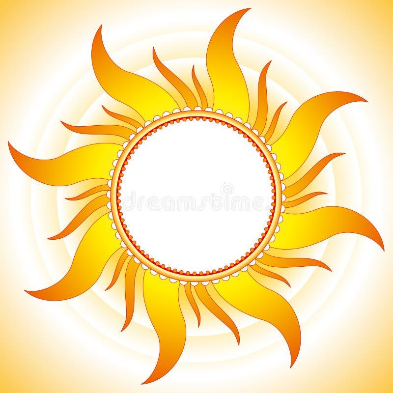 Fondo del vector del verano ilustración del vector