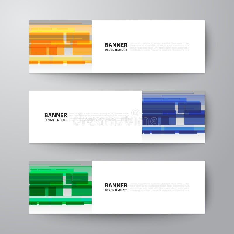 Fondo del vector del extracto de la plantilla del diseño web de las banderas ilustración del vector