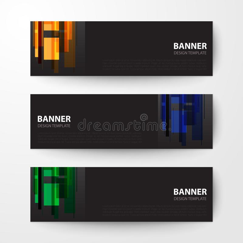 Fondo del vector del extracto de la plantilla del diseño web de las banderas stock de ilustración