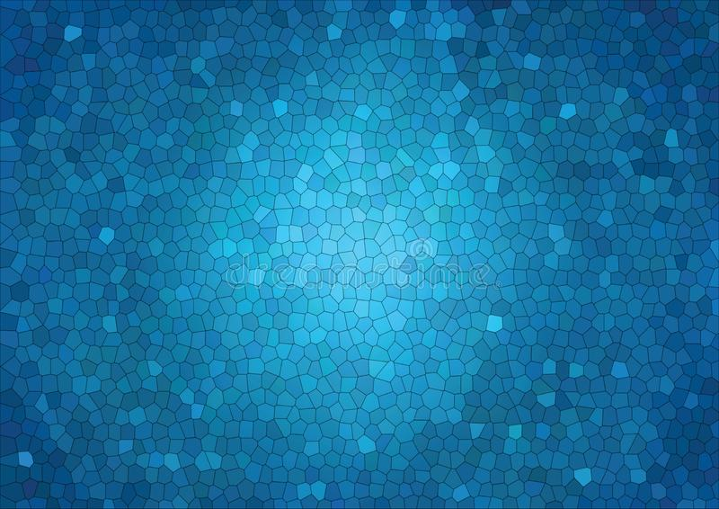 Fondo del vector del mosaico del extracto del polígono, mosaico gráfico del fondo del estilo del ejemplo azul polivinílico bajo t stock de ilustración