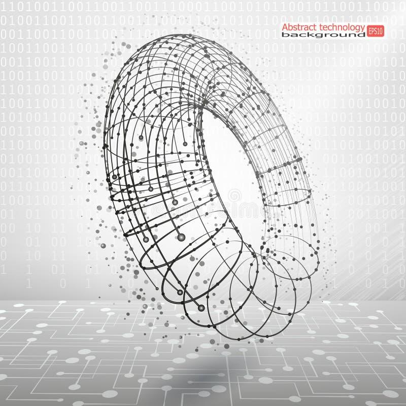 Fondo del vector Movimiento y desarrollo Revolución industrial Comunicación abstracta de la tecnología Concepto stock de ilustración