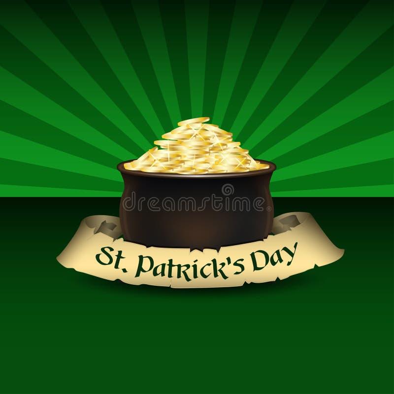 Fondo del vector para el día del ` s de St Patrick libre illustration