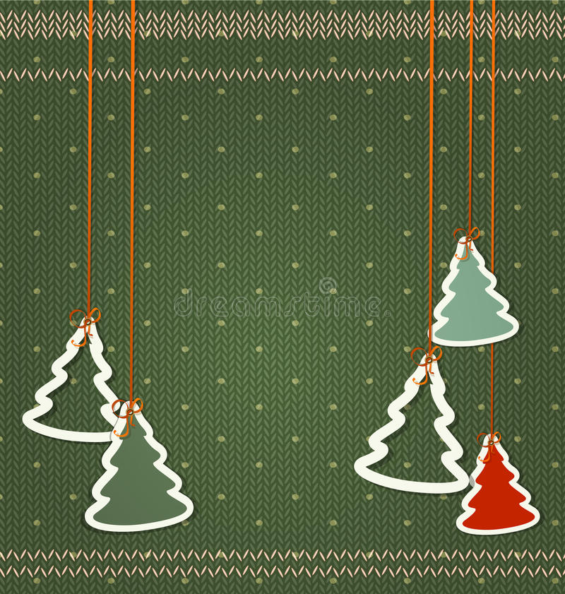 Fondo del vector por la Navidad y el Año Nuevo Árboles de navidad ha libre illustration