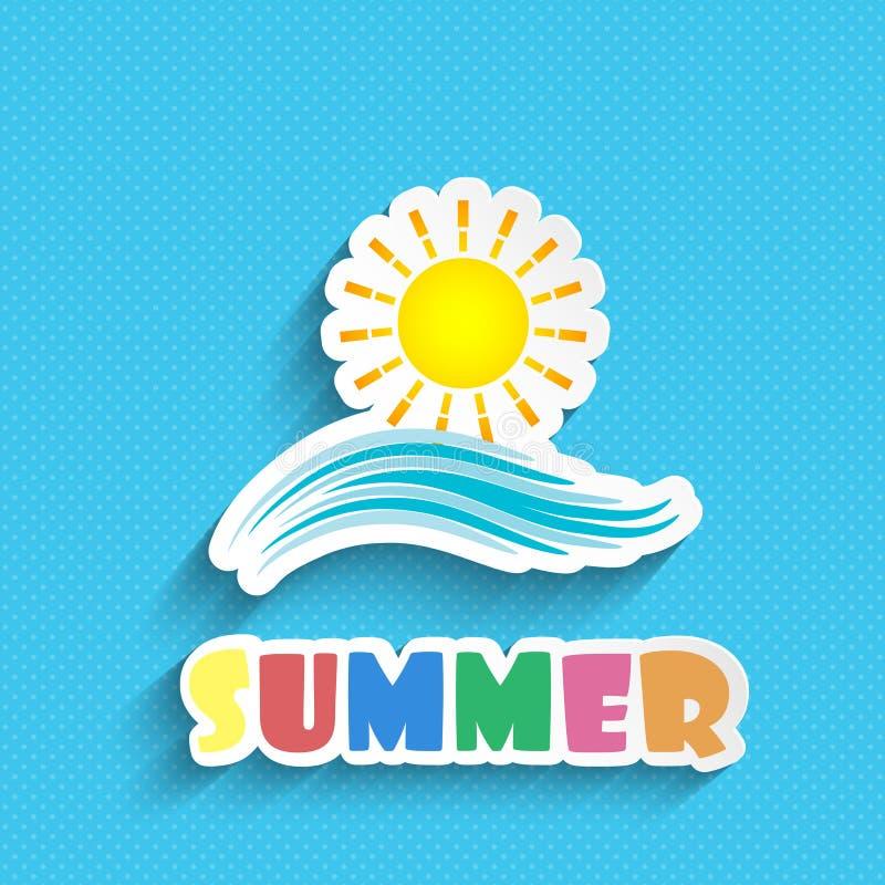 Fondo del verano stock de ilustración