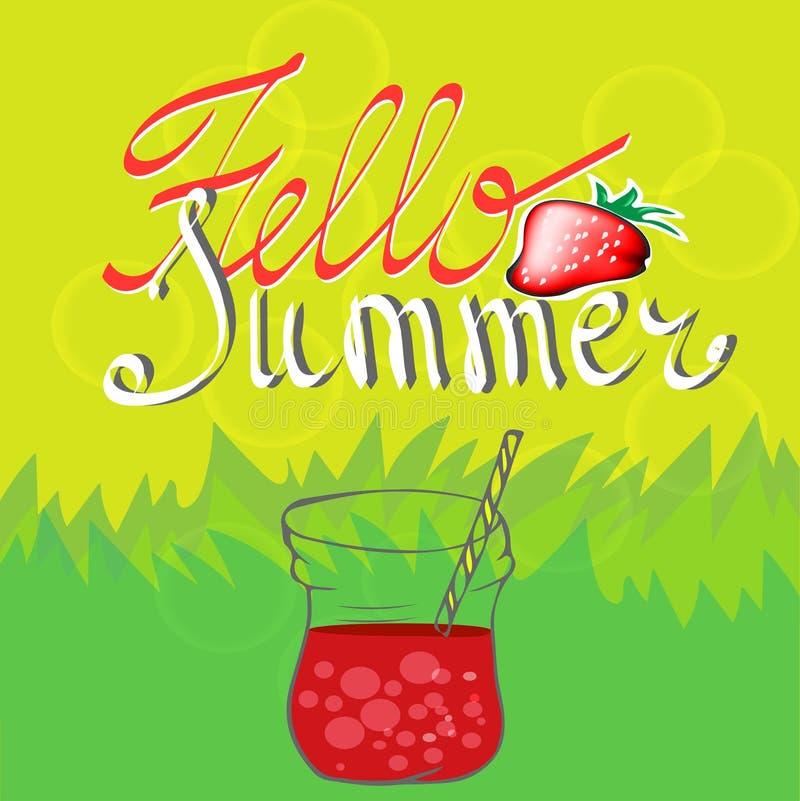 Fondo del verano con las fresas libre illustration
