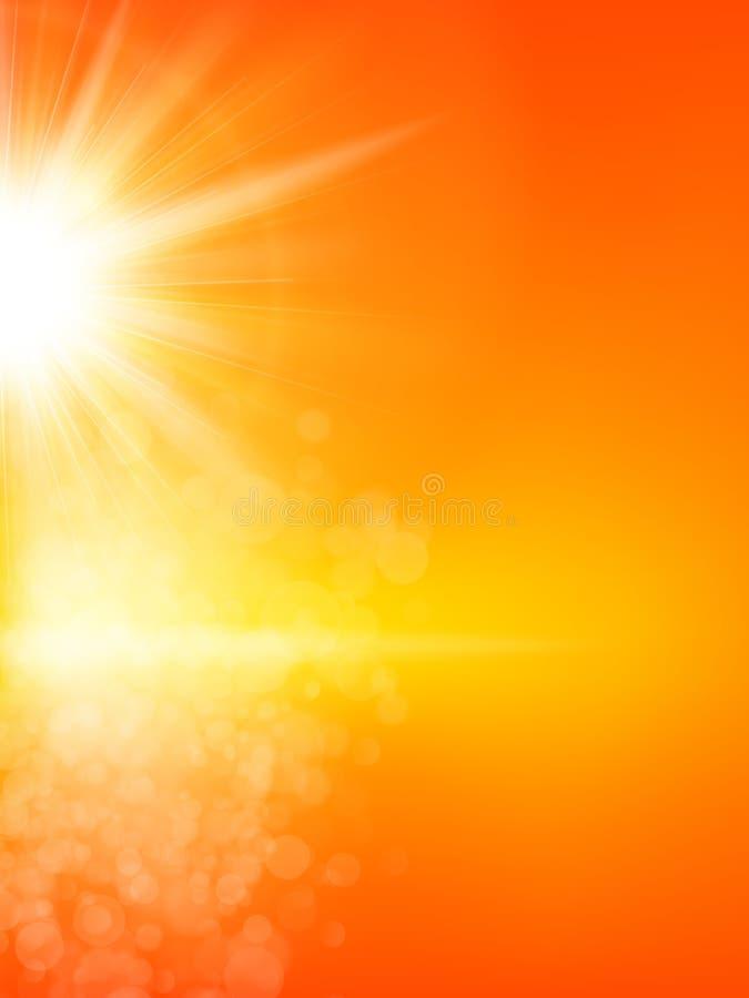 Fondo del verano con un sol EPS 10 libre illustration