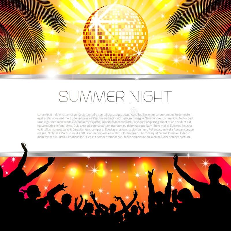 Fondo del verano de la música - vector stock de ilustración