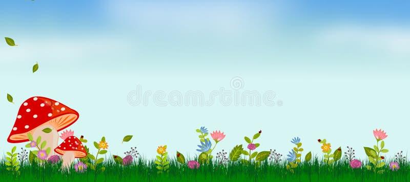 Fondo del verano de la primavera stock de ilustración