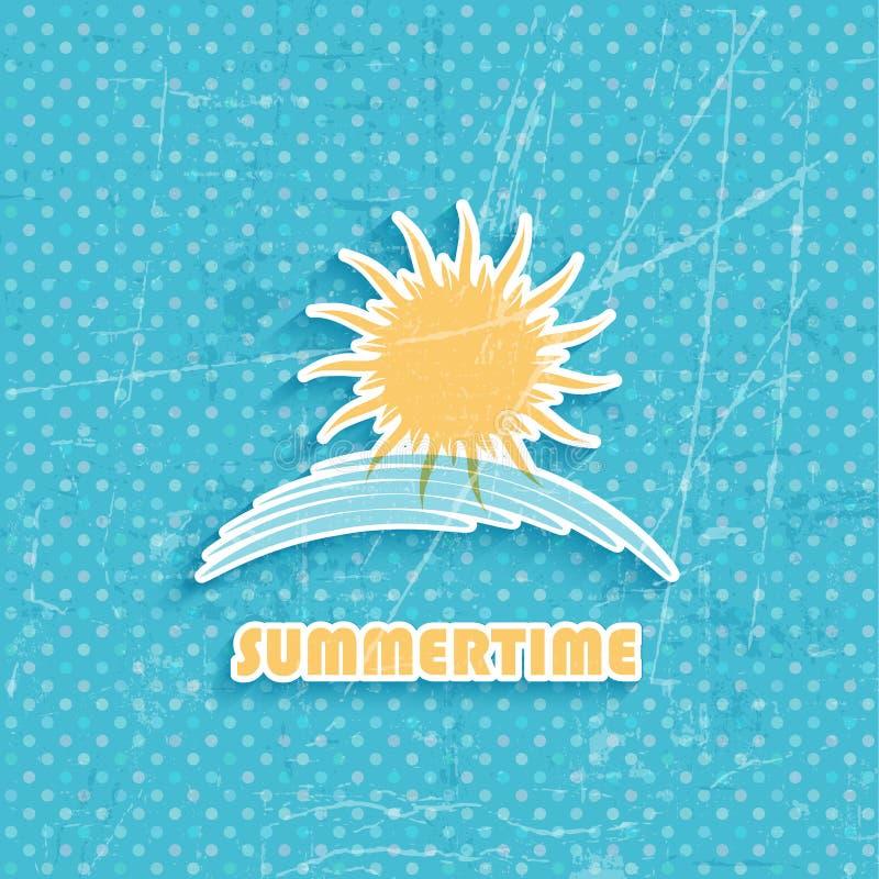 Fondo del verano del Grunge libre illustration
