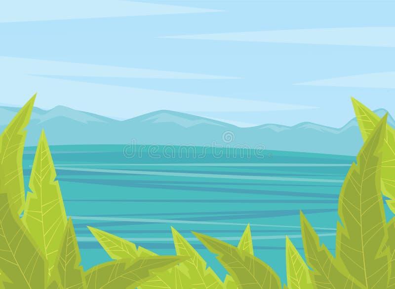 Fondo del verano o del tiempo de primavera libre illustration