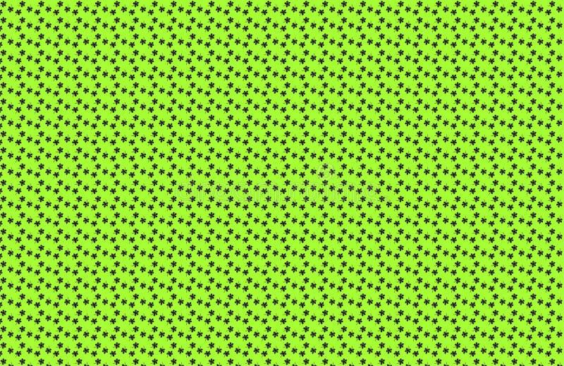 Fondo del verde del modelo de las hojas stock de ilustración
