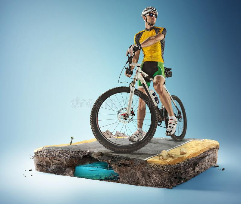 Fondo del viaje y de los deportes ilustración 3D foto de archivo libre de regalías