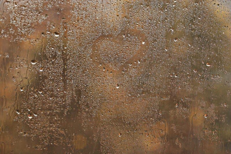 Fondo del vidrio del otoño de la ventana foto de archivo