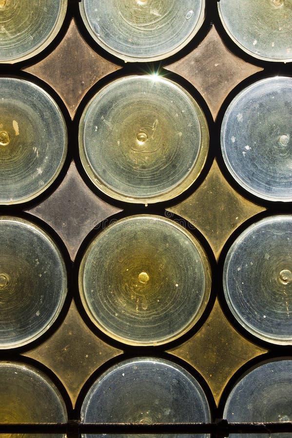 Fondo del vidrio manchado imagen de archivo