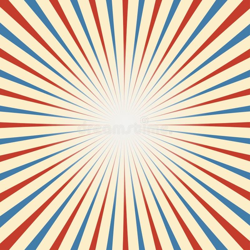 Fondo del vintage del circo en blanco azul rojo libre illustration