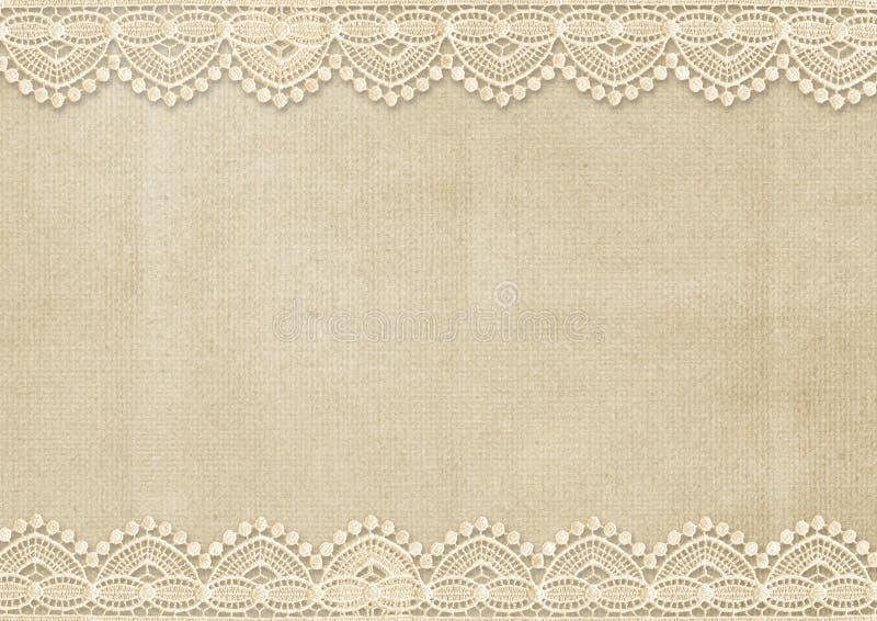 Fondo del vintage con el cordón magnífico ilustración del vector