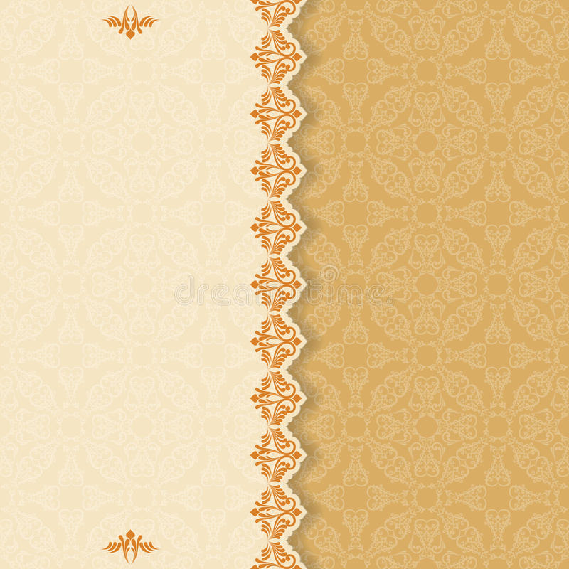 Fondo del vintage con el divisor y el arabesque hermoso ilustración del vector