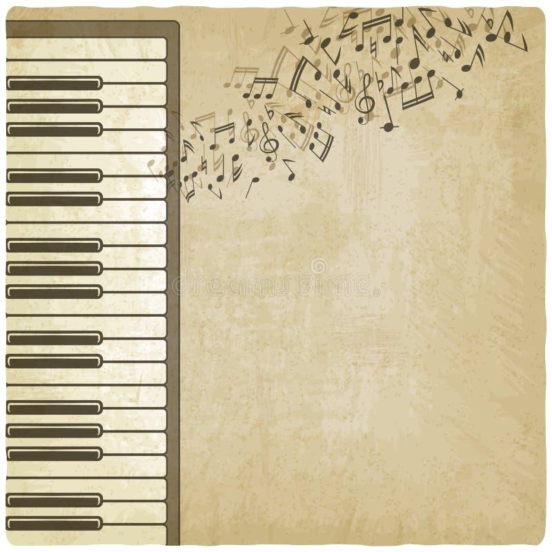 Fondo del vintage con el piano ilustración del vector