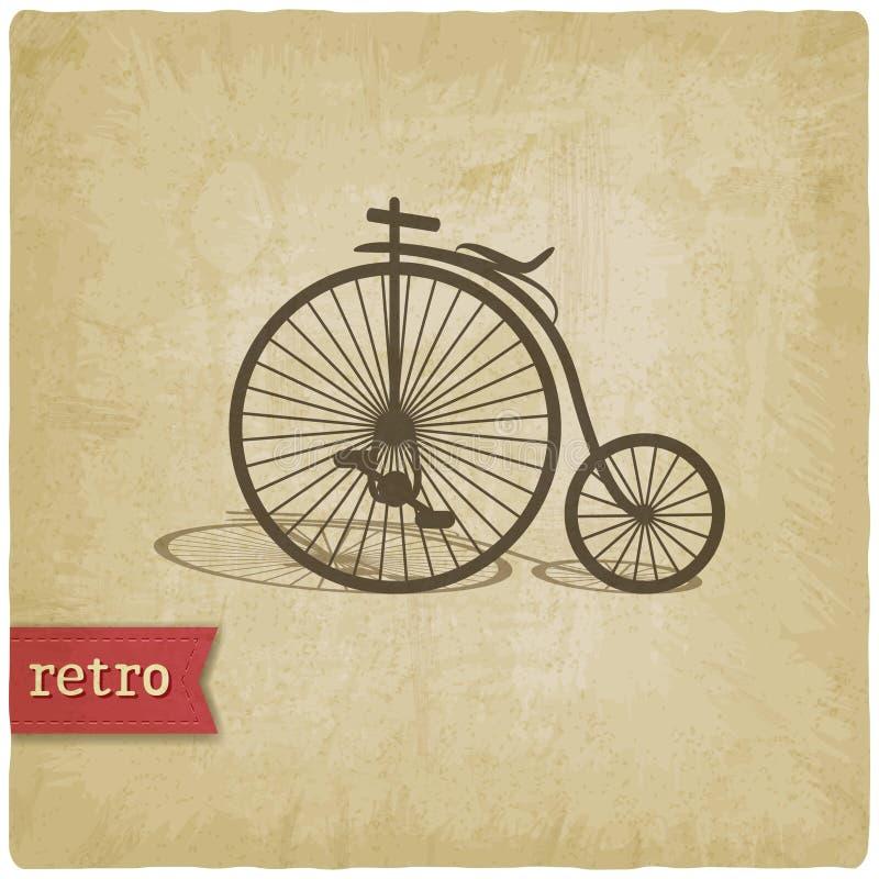 Fondo del vintage con la bicicleta libre illustration