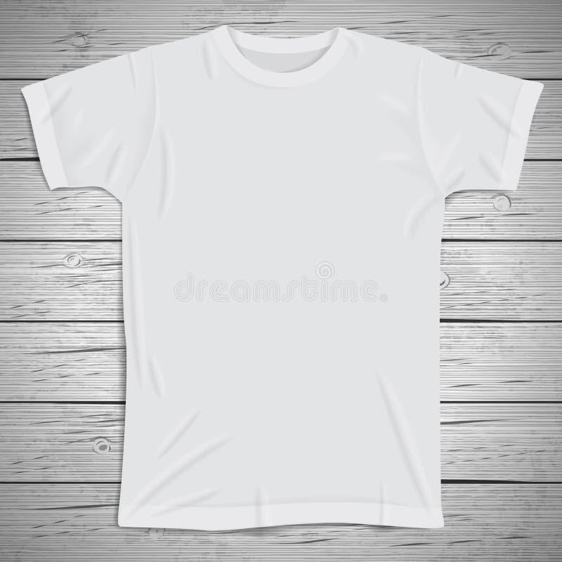 Fondo del vintage con la camiseta en blanco stock de ilustración