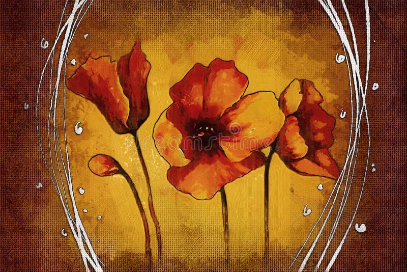 Fondo del vintage con la flor del ejemplo del arte stock de ilustración