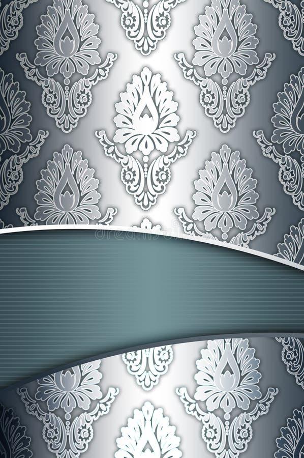 Fondo del vintage con los estampados de flores elegantes ilustración del vector