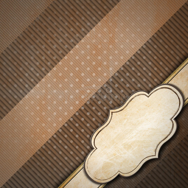 Fondo del vintage de Brown con la etiqueta ilustración del vector