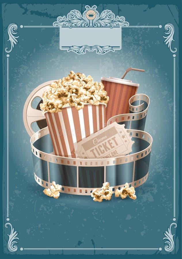 Fondo del vintage del cine stock de ilustración