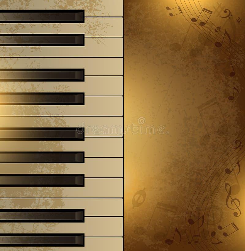 Fondo del vintage con el piano libre illustration