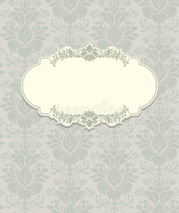 Fondo del vintage, tarjeta de felicitación antigua ilustración del vector