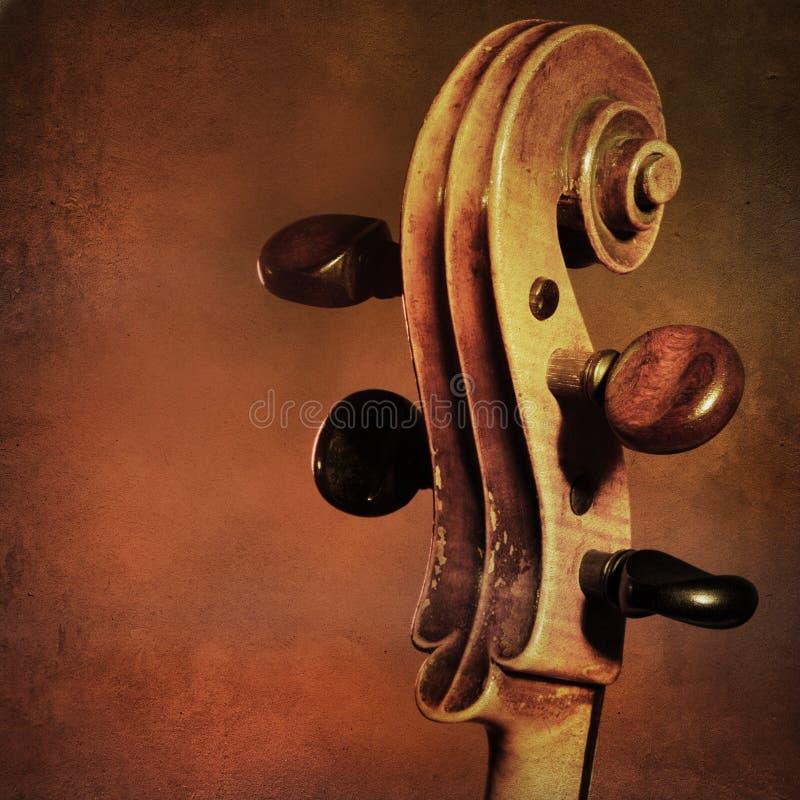Fondo del violoncelo del vintage imagen de archivo libre de regalías