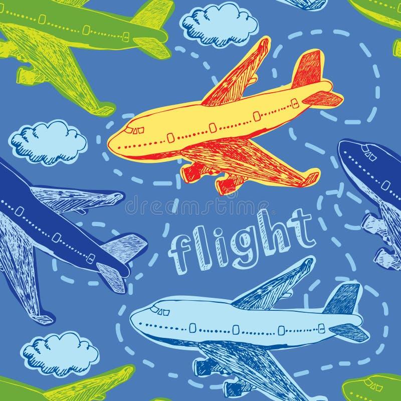 Fondo del vuelo stock de ilustración