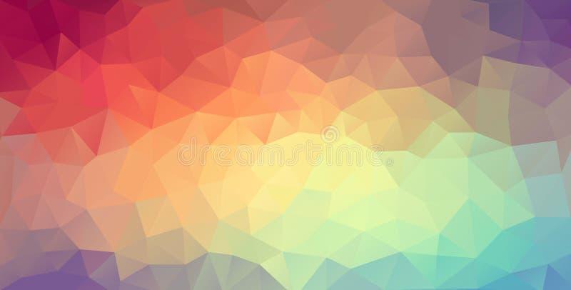 Fondo del web del polígono ilustración del vector