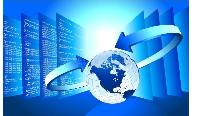 Fondo del wInternet del globo del asunto ilustración del vector