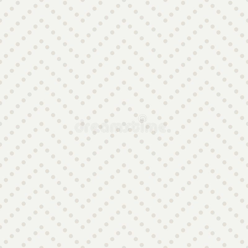 Fondo del zigzag del lunar Modelo inconsútil ligero del vector libre illustration