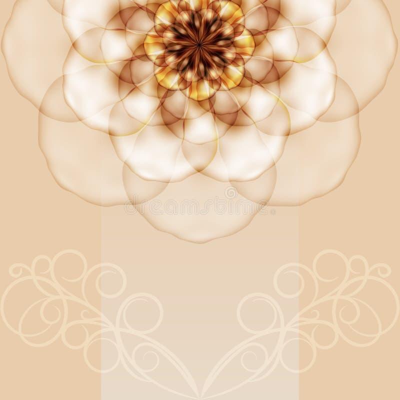 Fondo delicato con un bello grande fiore. royalty illustrazione gratis