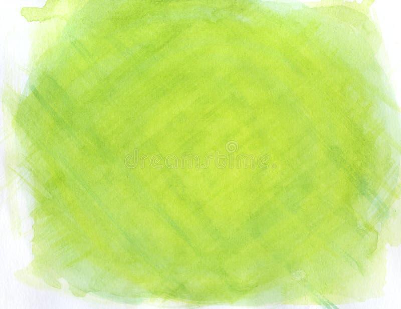 Fondo dell'acquerello allineato verde astratto illustrazione di stock