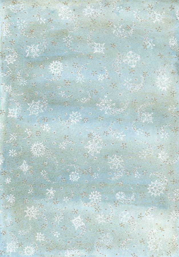 Fondo dell'acquerello con i fiocchi di neve royalty illustrazione gratis