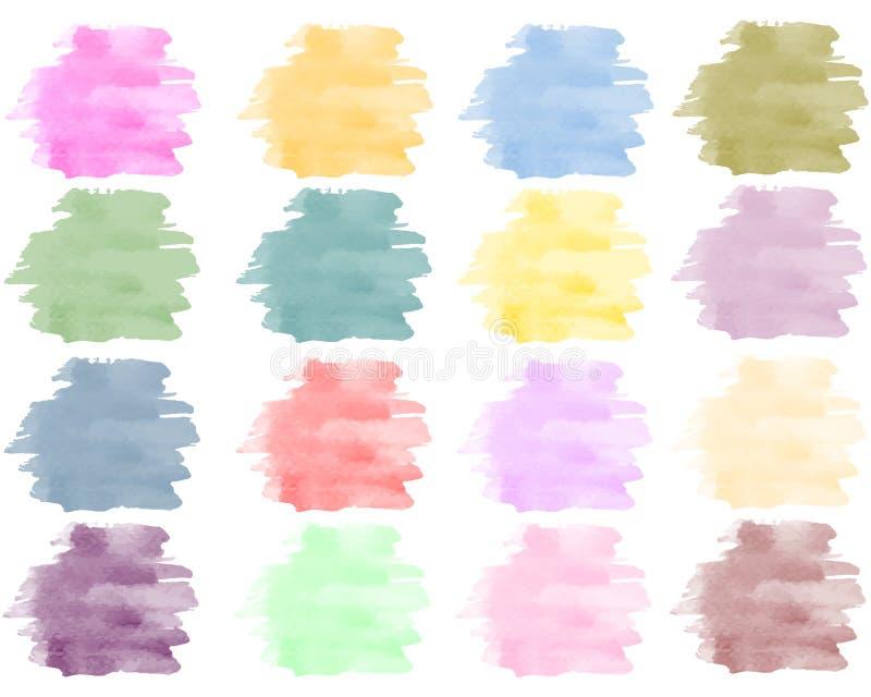 Fondo dell'acquerello messo nei colori luminosi royalty illustrazione gratis