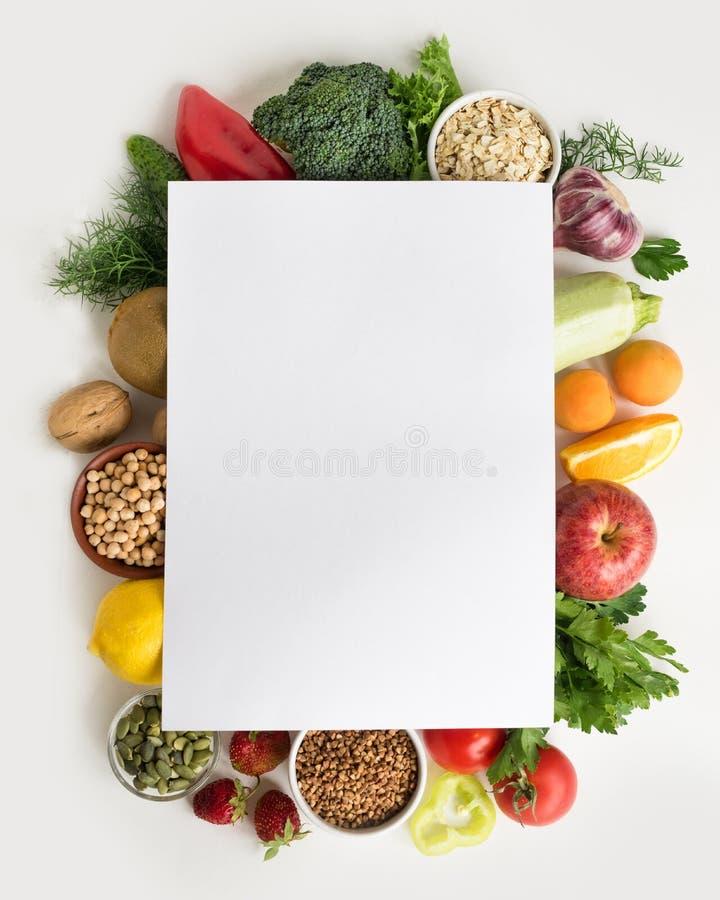 Fondo dell'alimento biologico fotografia stock